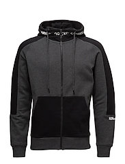 JCOVICE SWEAT ZIP HOOD - DARK GREY MELANGE