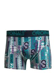 GRANVILLE TRUNKS 3-PACK ORG 1-2-3 2014 - Deep Peacock Blue