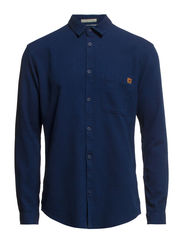 DALO SHIRT ONE POCKET L/S TTT - Dark Blue Denim