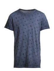 GLASS TEE SS CREW NECK ORIG TTT - Dress Blues