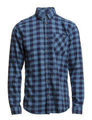 MOUNTAIN SHIRT ONE POCKET  L/S  CAMP - Coronet Blue