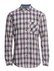 WOODSON SHIRT ONE POCKET  L/S - Cloud Dancer
