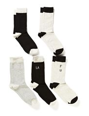 ALUN 5-PACK SOCKS ORG 7-8-9 2014 - Black