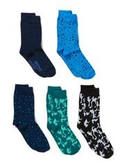 ANDUS 5-PACK SOCKS ORG 4-5-6 2014 - Dress Blues