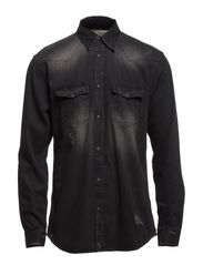 JJORRUPERT SHIRT SC 142 - Black Denim