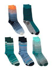 AUDLEY SOCKS 5-PACK ORG 7-8-9 2014 - Coronet Blue