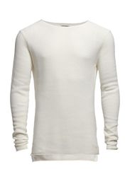 ORG KNIT CREWNECK SWE - Cloud Dancer