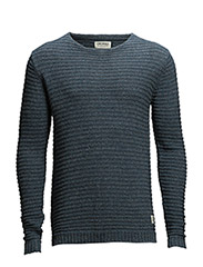 JJORCROP KNIT CREWNECK - Bering Sea