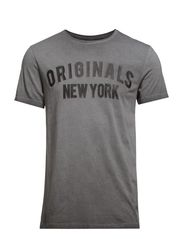 JJORNEW YORK TEE SS CREW NECK - Black