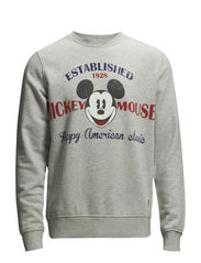 JJORMICKEY CREW NECK SWEAT - Grey Melange
