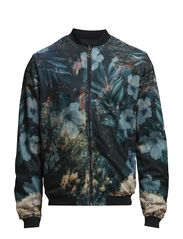 JJORLUCAS BOMBER JACKET - Black Navy