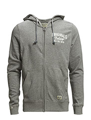 jjorWENT SWEAT ZIP HOOD - Light Grey Melange