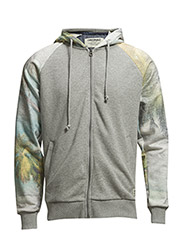 jjorBRETT SWEAT ZIP HOOD - Light Grey Melange
