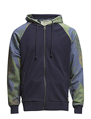 jjorBRETT SWEAT ZIP HOOD - Peacoat