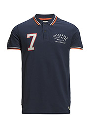 jjorLIUM POLO SS - Dress Blues