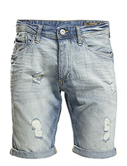 JJORRICK ORIGINAL SHORTS AT 073 CAM - Blue Denim