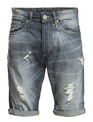JJORRICK ORIGINAL SHORTS AT 074 CAM - Blue Denim