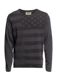 KURT SWEATCREW NECK - Dark Grey Melange