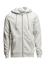 jjorWALLY SWEAT ZIP HOOD - White