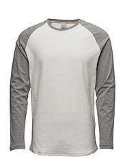JORNEW STAN TEE LS CREW NECK NOOS - CLOUD DANCER