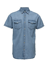 JORONE SHIRT SS NOOS - DARK BLUE DENIM