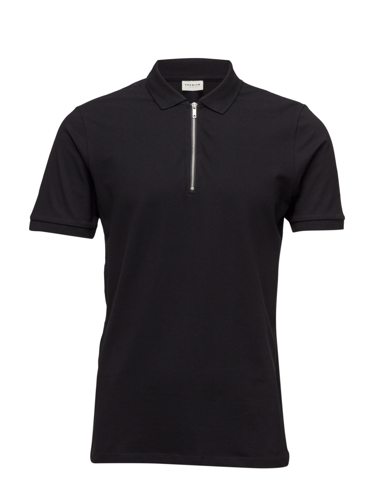 Jprzip Polo Jack & Jones Premium Kortærmede polo t-shirts til Herrer i Sort