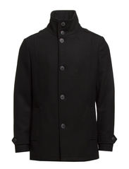 GENE WOOL JACKET TTT - Black