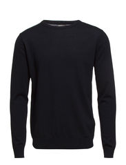 PRM MERINO CREW NECK PR - Dark Navy