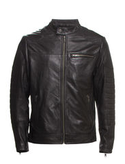 THOMAS LEATHER JACKET TTT - Black