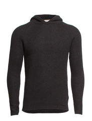 EZRA KNIT HOOD PR - Dark Grey Melange