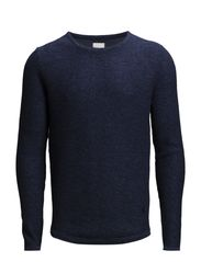 JJPRJERRY KNIT CREW NECK - Navy Blazer