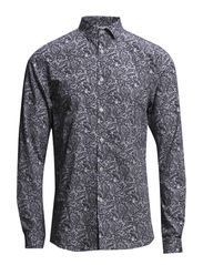 JJPRPAISLEY SHIRT L/S PLAIN - Black