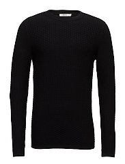 JPRBRICK KNIT CREW NECK - BLACK