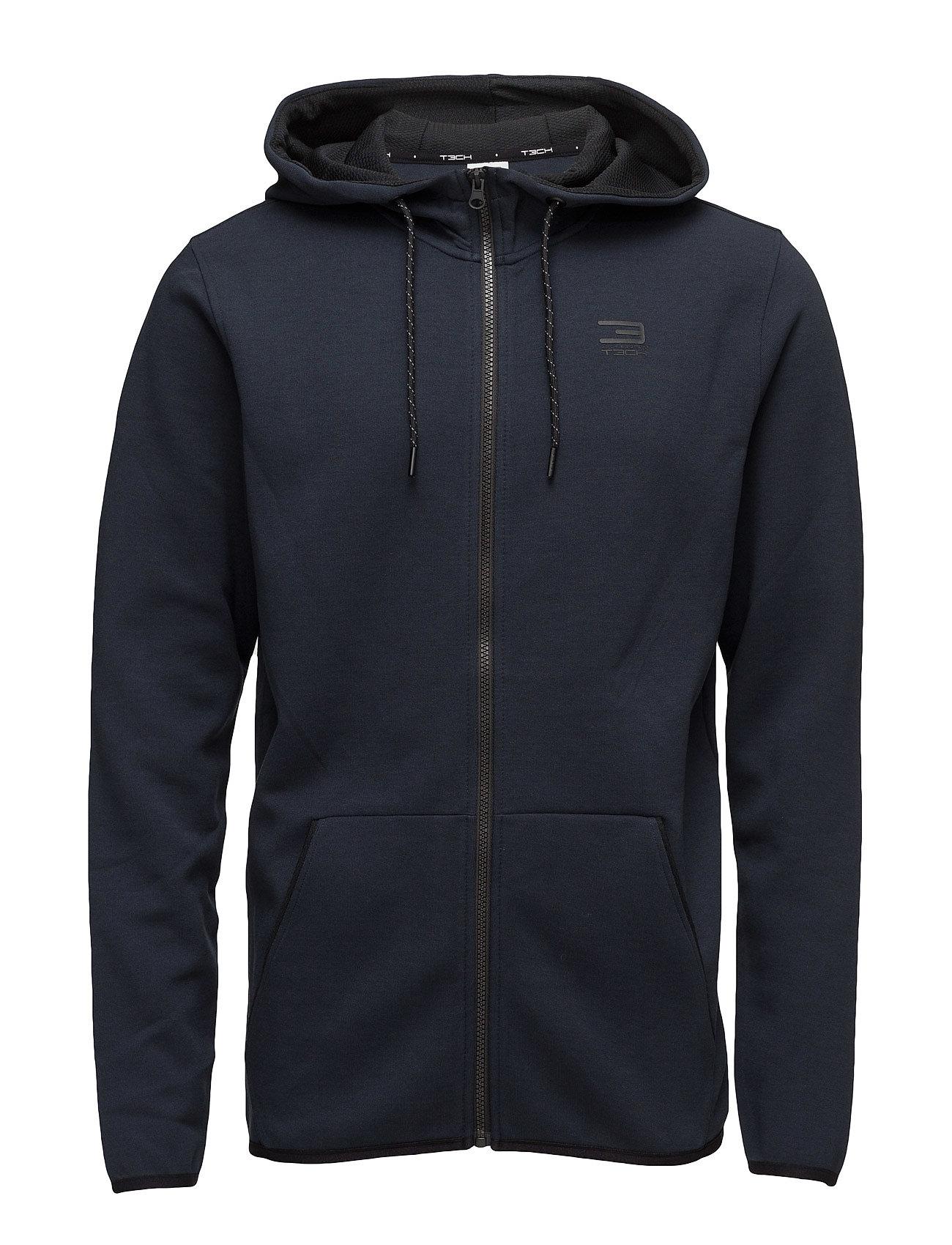Jjtnordic Sweat Zip Hood Noos Jack & Jones Tech Hættetrøjer til Herrer i Navy Blazer