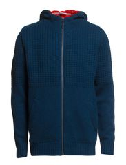 BASCO KNIT ZIP HOOD E - Blue Wing Teal