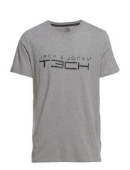 JJFOAM TEE SS CREW NECK NOOS - Light Grey Melange