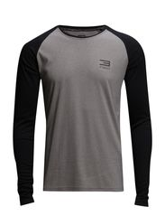 JJFLUX TEE LS CREW NECK - Light Grey Melange