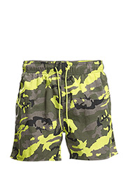 JJTCCAMO SWIM SHORTS - Lime Punch