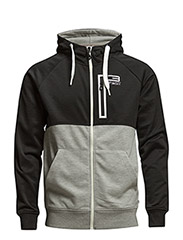 jjtcSPLIT SWEAT ZIP HOOD - Black