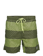 JJTROW SWIMSHORTS MID - SAFETY YELLOW