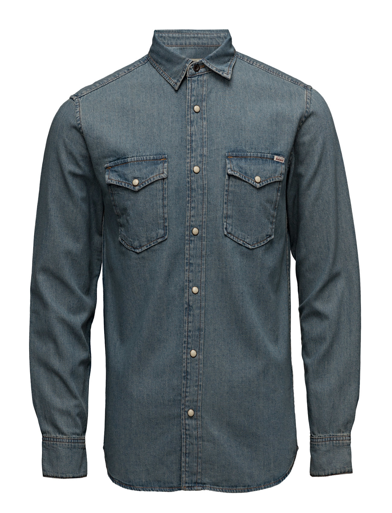 Jjvsheridan Shirt L/S Western Noos Jack & Jones Vintage Casual sko til Mænd i Black Denim