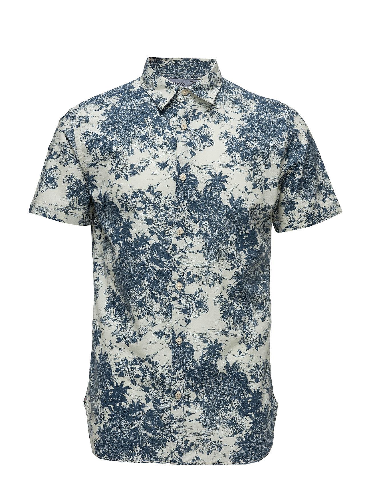 Jjvkauwela Shirt S/S Jack & Jones Vintage Kortærmede til Herrer i Cloud Dancer