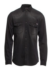 OAKLAND WESTERN DENIM SHIRT 123 14 NOOS - Black Denim