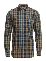 FARNHAM WORKER SHIRT L/S TTT - Brindle