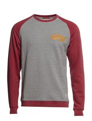 FIELD EMB. CREW NECK SWEAT T&F - Port