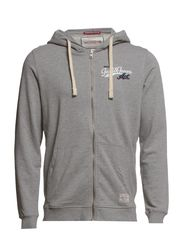 FIELD SPORT ZIP HOOD SWEAT T&F - Light Grey Melange
