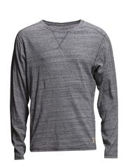 jjvcJONATHAN TEE LS CREW NECK - Light Grey Melange