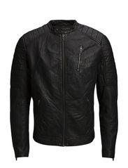 JJRICHARD LEATHER JACKET - Black