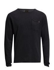 jjvcGERARD CREW NECK KNIT - Black
