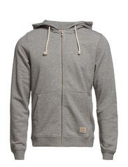 jjvcRECYCLE SWEAT ZIP HOOD NOOS - Light Grey Melange